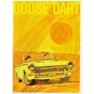 1964 DODGE DART Sales Brochure Literature Book Automotive