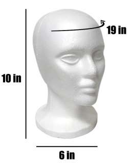 12 Styrofoam Mannequin Wig Head Display Hat Cap Wig Holder White Foam