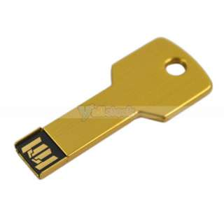 USB 2.0 8G 8GB Metal Key Flash Memory Drive Thumb Design USB2.0 Yellow