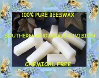 10   1 OUNCE BARS OF PURE WHITE BEESWAX NATURES FINEST