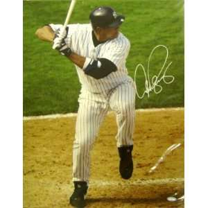Alex Rodriguez Signed Yankees Batting 16x20