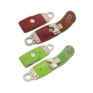 plug and play Leather High Speed USB 2.0 USB Flash Drive Electronics