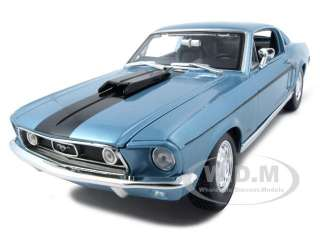 18 scale diecast car model of 1968 ford mustang cj cobra jet blue