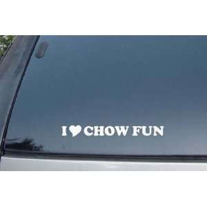 I Love Chow Fun Vinyl Decal Stickers