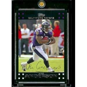 Topps Football # 52 Mike Anderson   Baltimore Ravens   NFL Trading
