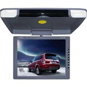 TKO 14.3 GREY FLIP DOWN WIDE SCREEN CAR MONITOR GRAY Car