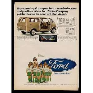 1968 Ford Club Wagon Camp Ra Pa Ho Kids Print Ad (9511