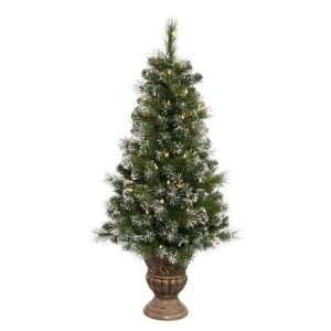 Potted Sweden Pine Pre lit Tabletop Christmas Tree