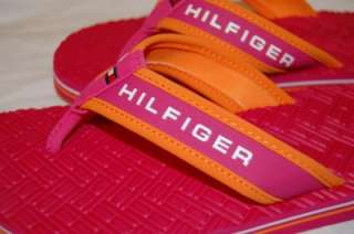 HILFIGER SURFRIDER Pink/Orange Flip Flops Sandals SHOES Girls 2 M FUN