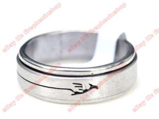 wholesale lots 36pcs spin stainless steel rings