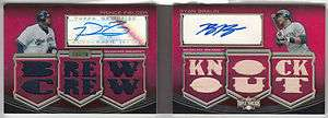 2010 Topps Triple Threads FIELDER / BRAUN Dual Auto Jersey / Bat