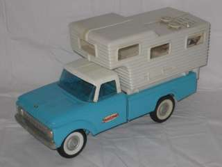 1960s NYLINT FORD 250 CAMPER RADIO PROMO TRUCK PRESSED STEEL 15