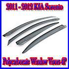 Window Deflectors OEM Visors Rain Guards 4pcs for 2012 Kia Sorento