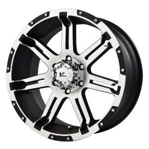 V Rock Overdrive Matte Black Wheel with Machined Spoke and