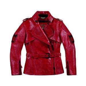 ICON WOMENS 1000 FEDERAL JACKET (X SMALL) (HARMONIC RED