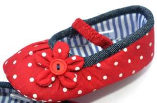 Red Mary Jane toddler baby girl shoes UK size 2 3 4