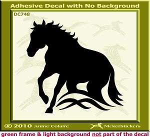 Reining Horse Trailer QH Art Window Decal Sticker 748