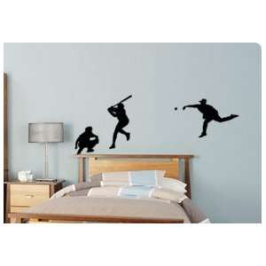 Play Ball decal  Big baseball scene sticker 80 X 28 inches