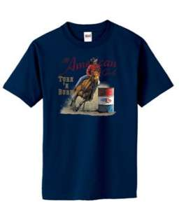 American Girl Turn N Burn Barrel Racing T Shirt S  6x