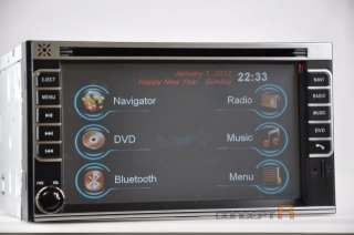 Car Double DIN DVD GPS Navigation Radio Touch Screen 2 Din In dash