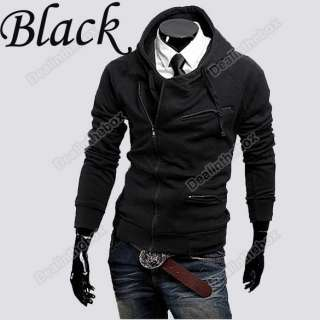 Mens Stylish Slim Fit Hoodies Jackets Men Sweaterhoodies Coats 4