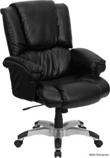 Black Leather Pillow Top Executive Desk Office Chair