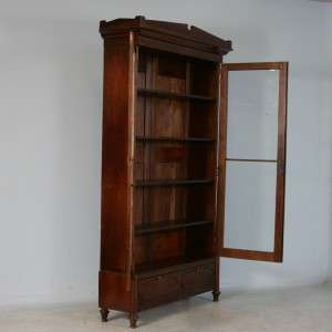 Tall American Antique Rosewood Bookcase/Glass Cabinet c. 1850 1870
