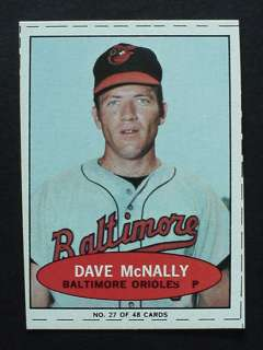 1971 Bazooka Dave McNally Numbered Proof Card Topps