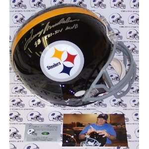 Terry Bradshaw Hand Signed Pittsburgh Steelers Throwback Full Size