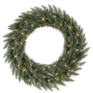 Foot, Dura Lit Artificial Christmas Wreath, Camdon Fir, Clear
