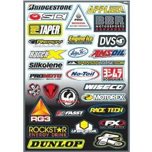 Kit D Sponsor Sticker Kit Quad ATV Graphic Kit Accessories   Size 3 6