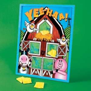 Farm Party Bean Bag Toss Game (6 pc) Toys & Games