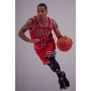Derrick Rose Fathead Chicago Bulls NBA Wall Graphic 15x14