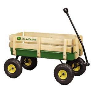 John Deere   36 Steel Wagon With Wooden Stake Sides  Toys & Games