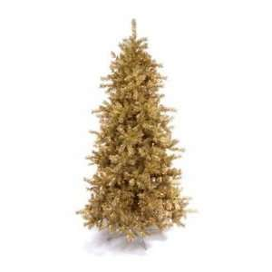 Gold Metallic Pine Pre lit Lights Christmas Tree