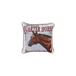 Quarter Horse Animal Decorative Throw Pillow 17 x 17