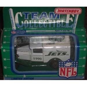 New York Jets 1990 Matchbox White Rose NFL Diecast Ford Model A Truck