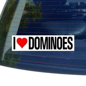 I Love Heart DOMINOES   Window Bumper Sticker Automotive