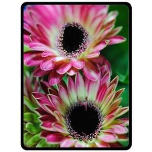 Two Pink Mini Gerber Daisy Fleece Blanket Baby