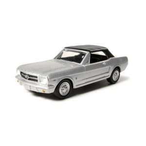 1965 Ford Mustang Convertible Top Up 1/64 Silver Toys