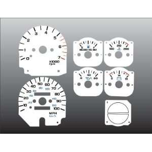 1992 1995 Jeep Wrangler White Face Gauges Automotive