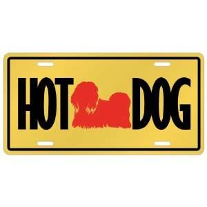 New  Japanese Chin   Hot Dog  License Plate Dog