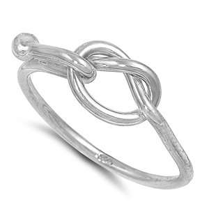 Sterling Silver Love Knot Ring   Size 12 Jewelry