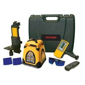 David White 48 3150G 2 Self Leveling Green Beam Rotary Laser Level Kit