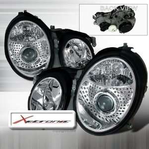 98 02 Mercedes Benz CLK class W208 Projector Head Lights DP   Chrome