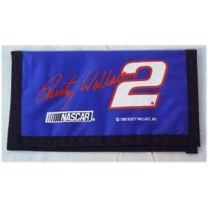 NASCAR RUSTY WALLACE #2 LOGO CHECKBOOK COVER Sports