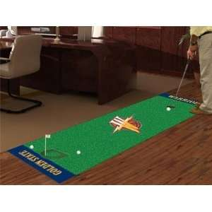 State Warriors Golf Putting Green Runner Area Rug