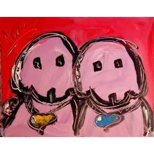 Dogs By Mark Kazav Original Acrylic Painting on Canvas