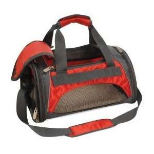 Sport Duffle Bag Pet Carrier Red & Silver Size Small