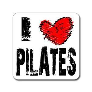 I heart PILATES   Window Bumper Laptop Sticker Automotive